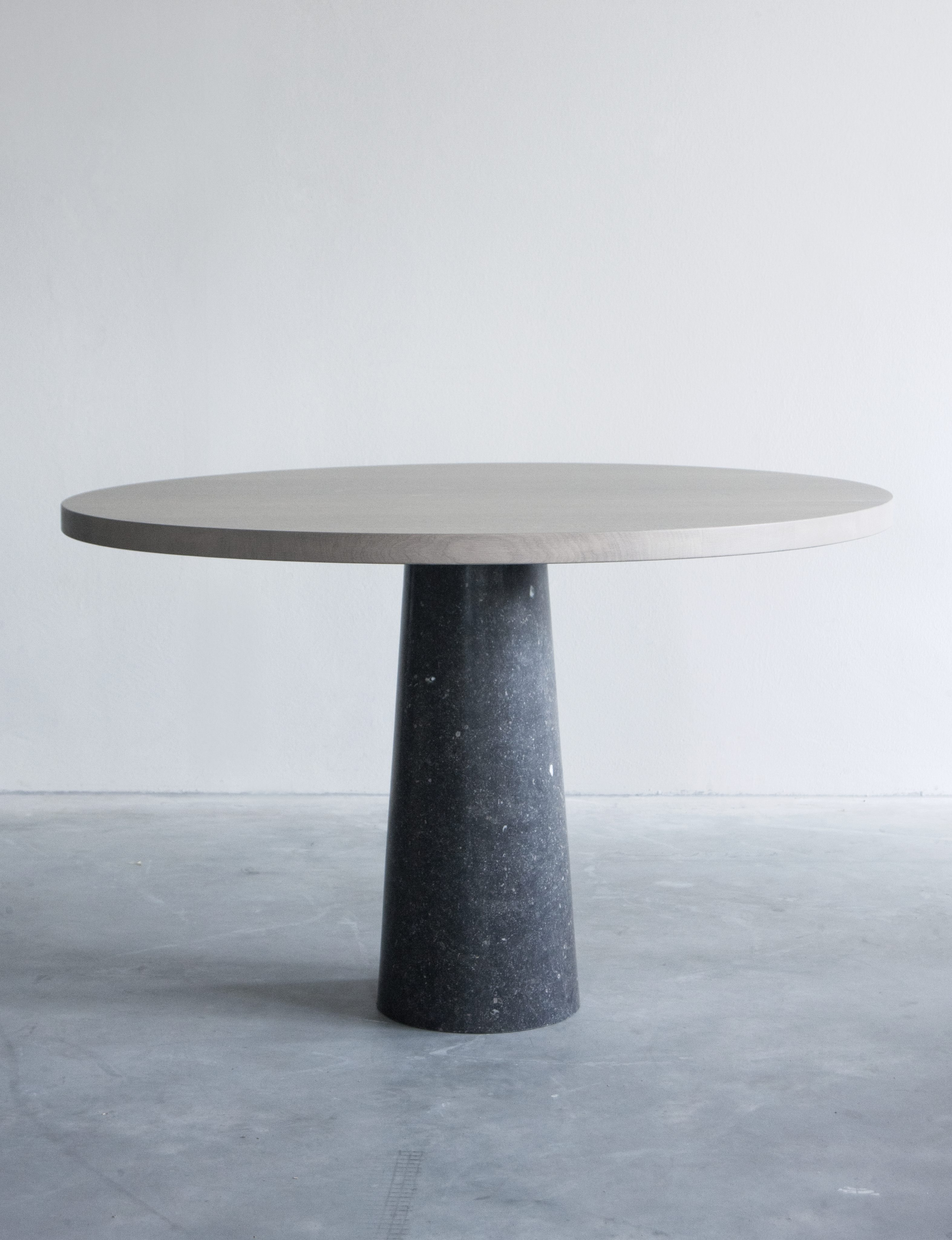 Van Rossum Stone Table With Blue